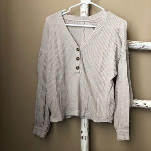american eagle cream sweater!